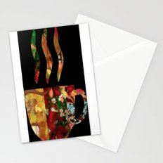 collage love : coffee Stationery Cards