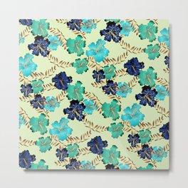 Multicolor elegant floral texture Metal Print