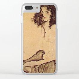 Egon Schiele - Girl In Black Clear iPhone Case