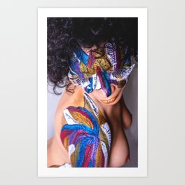 Anita Feather VIII. Art Print