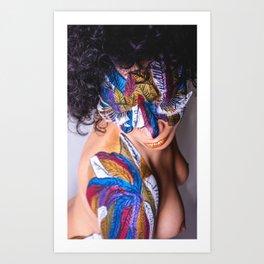 Anita Feather VIII. Art Print