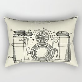 Photographic Camera with coupled exposure meter-1962 Rectangular Pillow