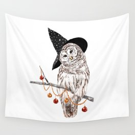 Halloween Owl Wall Tapestry