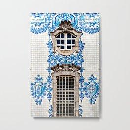 Portuguese Azulejo Photo, Carmo Cathedral, Porto, Portugal Metal Print