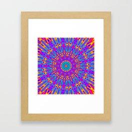 Happy Colors Explosion Psychedelic Mandala Framed Art Print