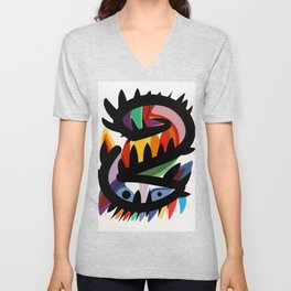 Depemiro Abstract Colorful Art Unisex V-Neck