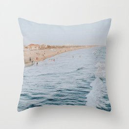 Santa Monica Beach, California Throw Pillow