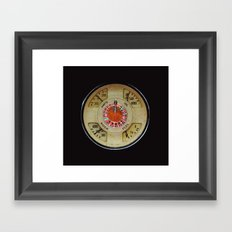 Custom Car Instrument Design with Lucky Roulette Wheel Framed Art Print
