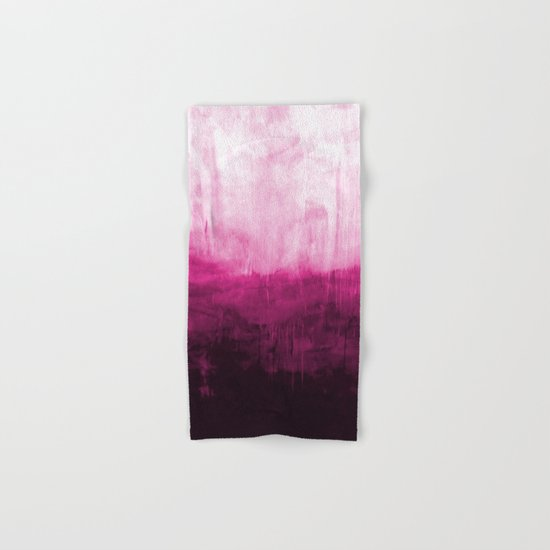 Paint 7 pink abstract painting ocean sea minimal modern bright colorful dorm college urban flat Hand & Bath Towel
