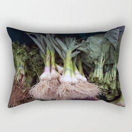 Fresh Vegetables at a Farmer's Market Rectangular Pillow