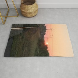 Sunrise over the Tracks Rug