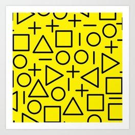 Memphis pattern 71 Art Print