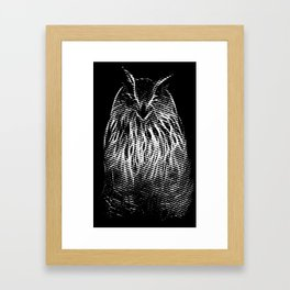 The smile of Mr. Owl Framed Art Print