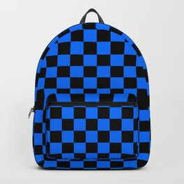 Black and Brandeis Blue Checkerboard Backpack