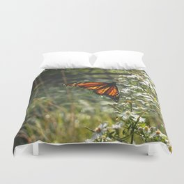 Monarch In My Mother's Field Duvet Cover