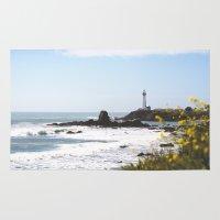 west coast Area & Throw Rugs featuring Springtime On The West Coast by JILL KREINBRINK