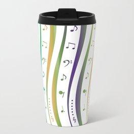 Seamless music notes pattern Travel Mug