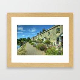 Bathampton Canal Cottages Framed Art Print