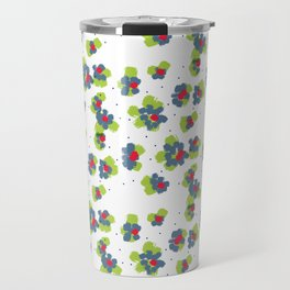 naive flowers pattern Travel Mug