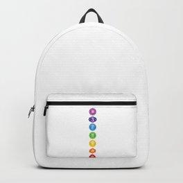 7 Chakra Symbols #01 Backpack