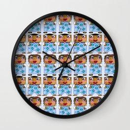 Matzo Boy and Matzo Girl together for Hanukkah! Wall Clock