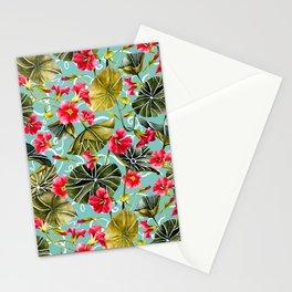 Flowering garden nasturtiums 02 Stationery Cards