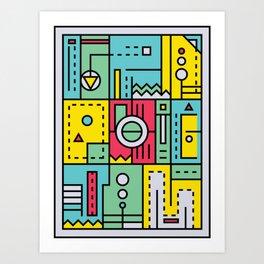 Play on words | Graphic jam Art Print