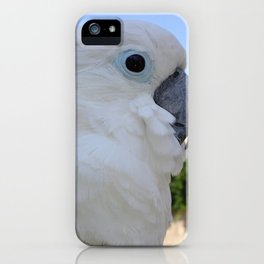 Side Portrait Of A Blue-Eyed Cockatoo iPhone Case