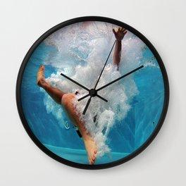 Pool - Blue Water - Beach - Ocean - Waves - Splash Wall Clock