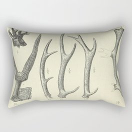 Vintage Antlers Rectangular Pillow