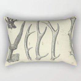 Vintage Antlers Rectangular Pillow