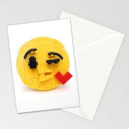 Brick-moji Kiss Stationery Cards