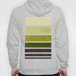 Olive Green Minimalist Watercolor Mid Century Staggered Stripes Rothko Color Block Geometric Art Hoody
