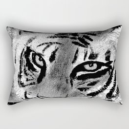 Tiger with White Background Rectangular Pillow