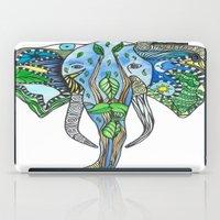 tatoo iPad Cases featuring Tatoo Elephant by PepperDsArt