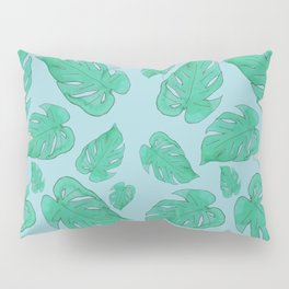philodendron leaf pattern Pillow Sham