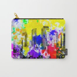 building of the hotel and casino at Las Vegas, USA with blue yellow red green purple painting abstra Carry-All Pouch