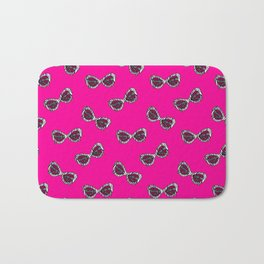 Diva Sunglasses-Pink Bath Mat