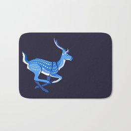 Blue deer redux Bath Mat