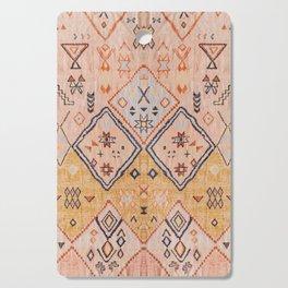 N218 - Mustard Yellow Oriental Heritage Boho Traditional Moroccan Desert Style Cutting Board