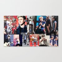 niall horan Canvas Prints featuring Niall Horan by Saron