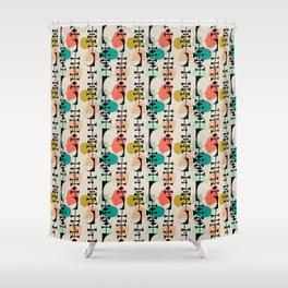 Tiki Confetti Shower Curtain