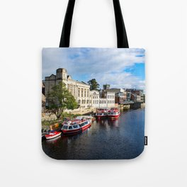 York City Guildhall and river Ouse Tote Bag