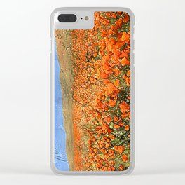 Golden Poppies in My Dreams Clear iPhone Case