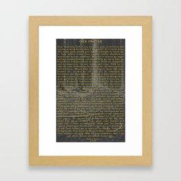 Our Prayer Framed Art Print