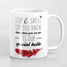Cardinal Bird - Lost Loved One Visiting - Special Message - Angels visiting Coffee Mug