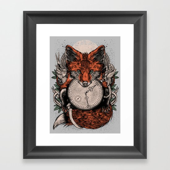 Chaos Fox Framed Art Print