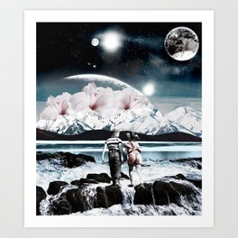 Discovering the earth Art Print