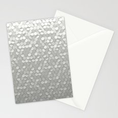 White hexagons Stationery Cards