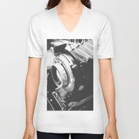 old school V-neck T-shirts featuring Old school  by Olivier P.